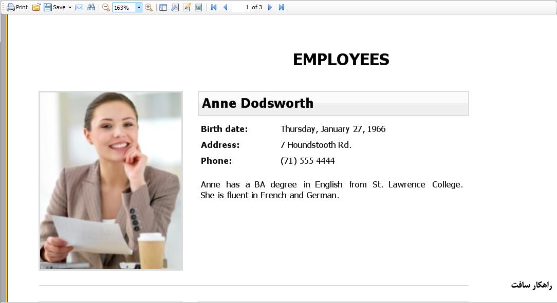 ایجاد تغییرات موردی در قالب گزارشات چاپی نرم افزارهای راهکار (کاربرد دکمه Edit Page در فست ریپورت)